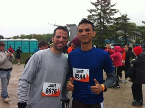 Pre-Tough Mudder: not yet sore, not yet tired, not yet electrocuted